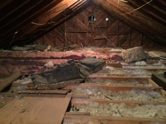 Insulation Removal - Before Photo