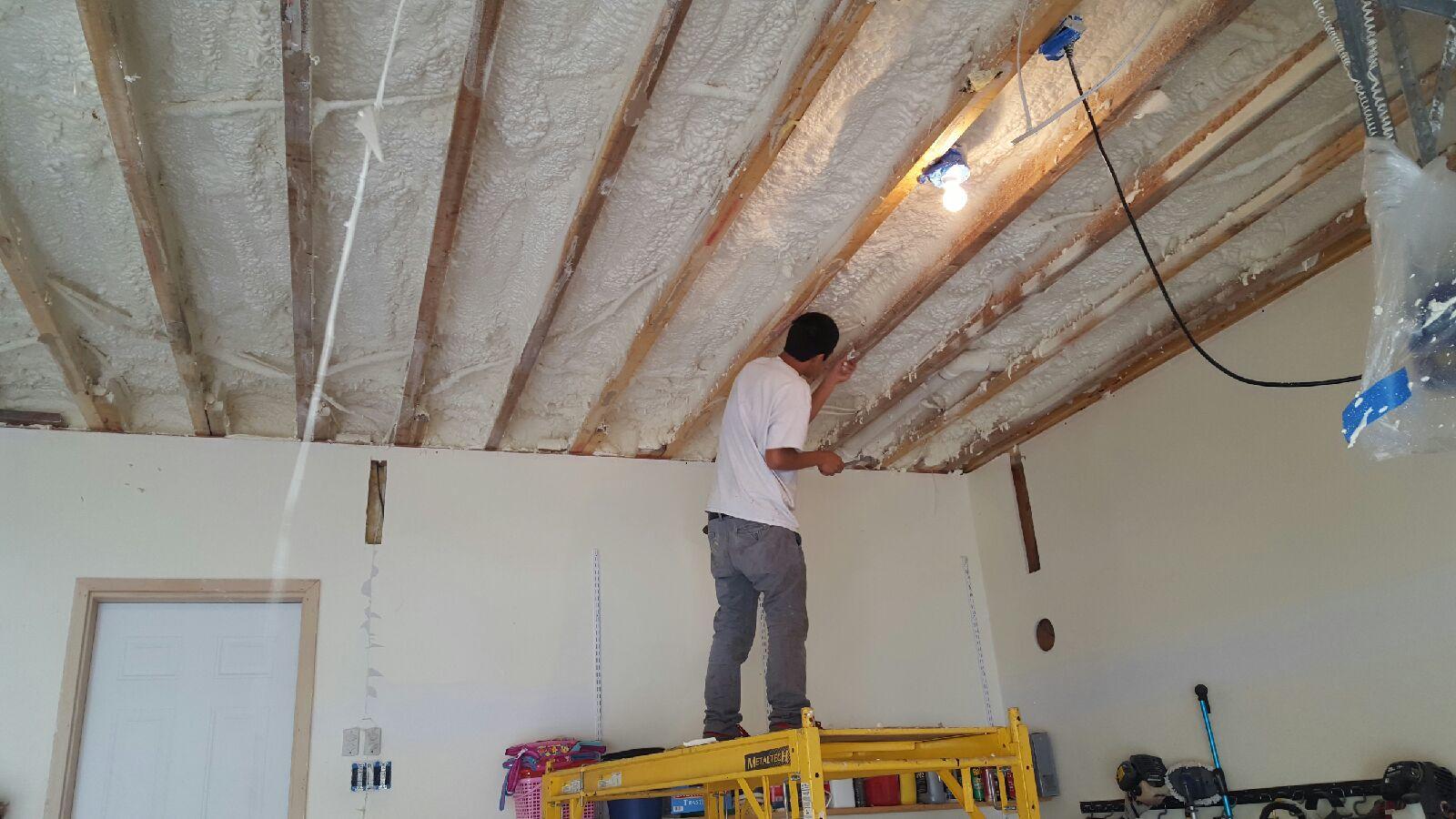 Spray Foam Garage Ceiling - After Photo