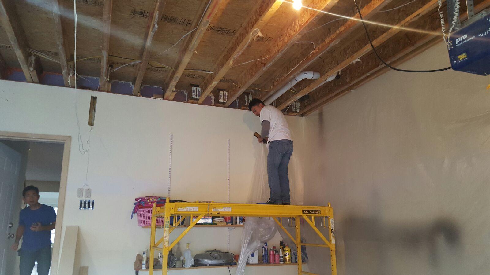 Spray Foam Garage Ceiling - Before Photo