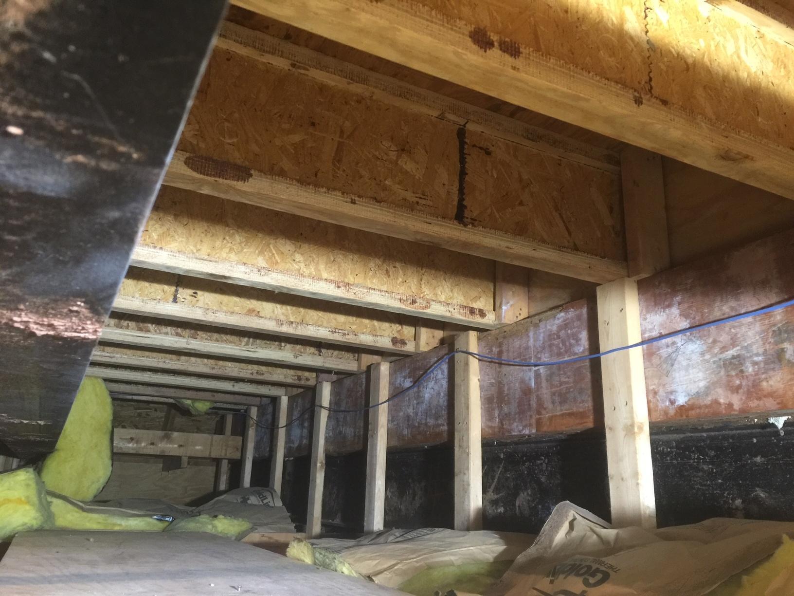 Garage Insulation in Sterling VA - Before Photo