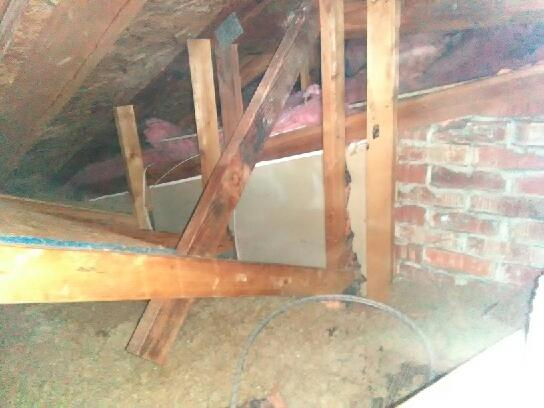 Wall adjacent to attic-Summerduck, VA
