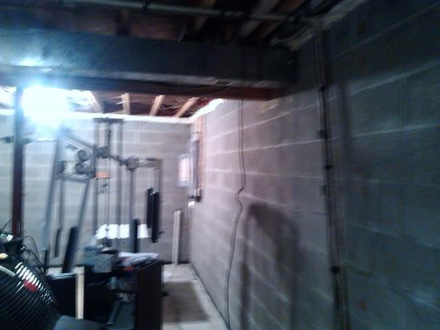 Basement Insulation in Purcellville, VA - Before Photo