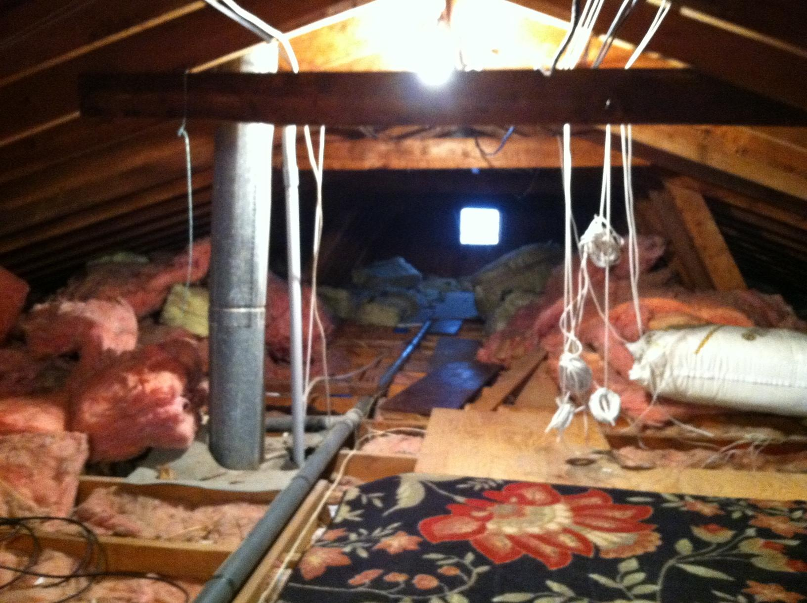 Attic Insulation Install in Toms River, NJ - Before Photo