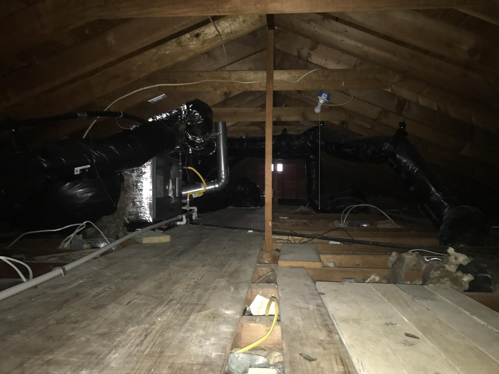 Attic Insulation and HVAC Equipment in Pt. Pleasant NJ - Before Photo