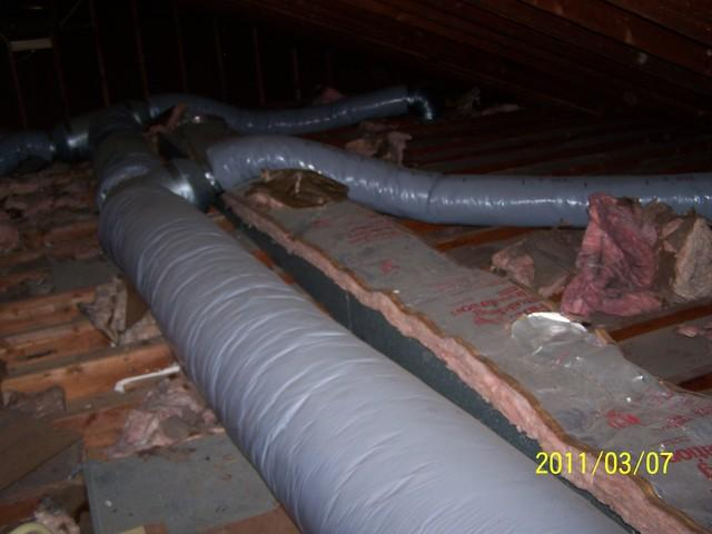 Duct Encapsulation at First Assembly of God in Shrewsbury, NJ - Before Photo