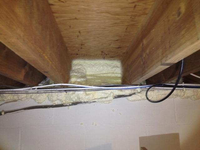 Sealed Rim Joist in Oceanport, NJ