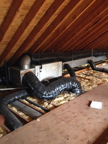 Attic Duct Systems in Toms River, NJ - Before Photo