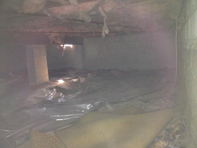Cold Floors, High Humidity, & Cave Cricket Infestation in Island Heights, NJ - Before Photo