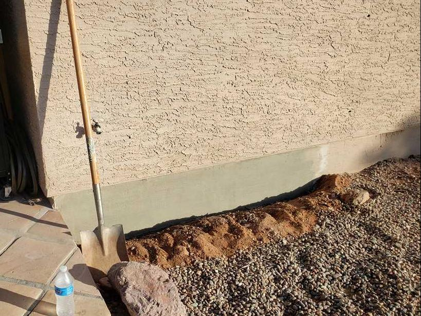 Apache Junction Stem Wall Repair - After Photo