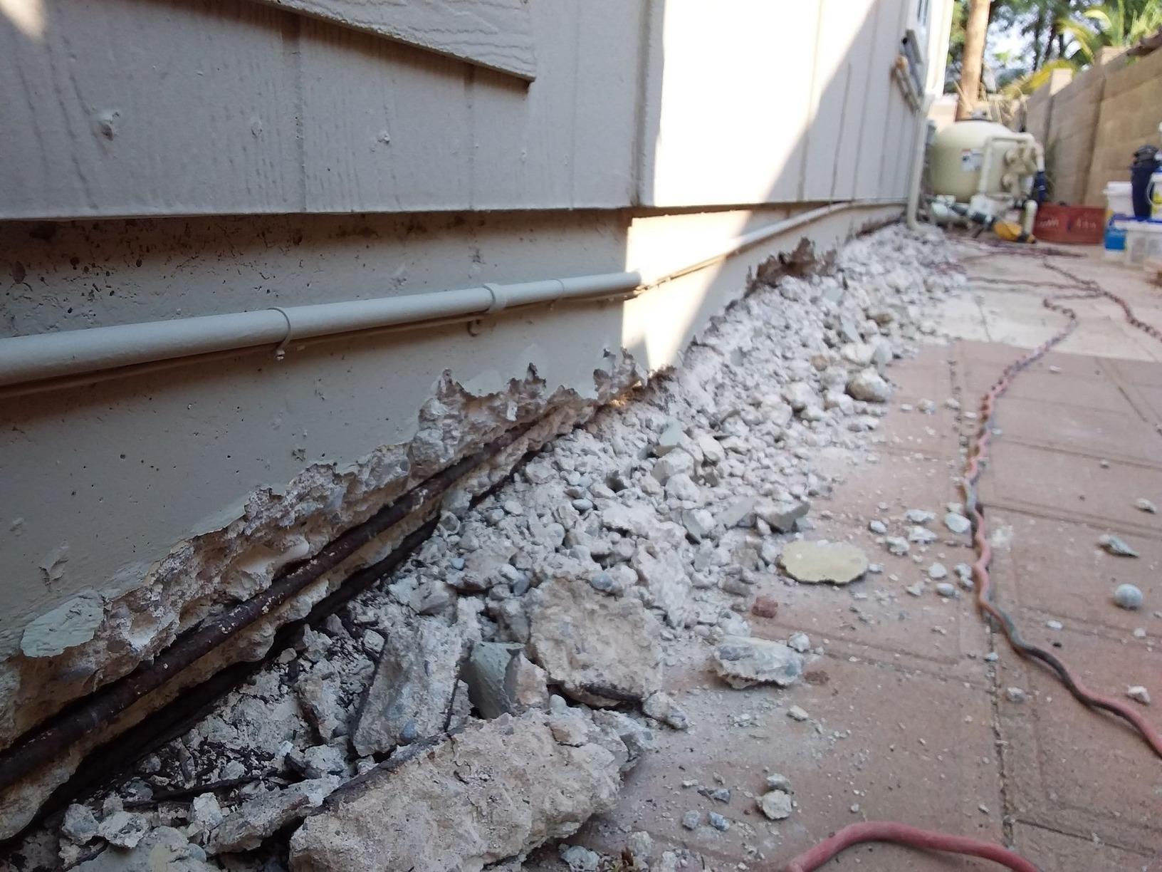 Stem Wall Repair - Phoenix, AZ - Before Photo