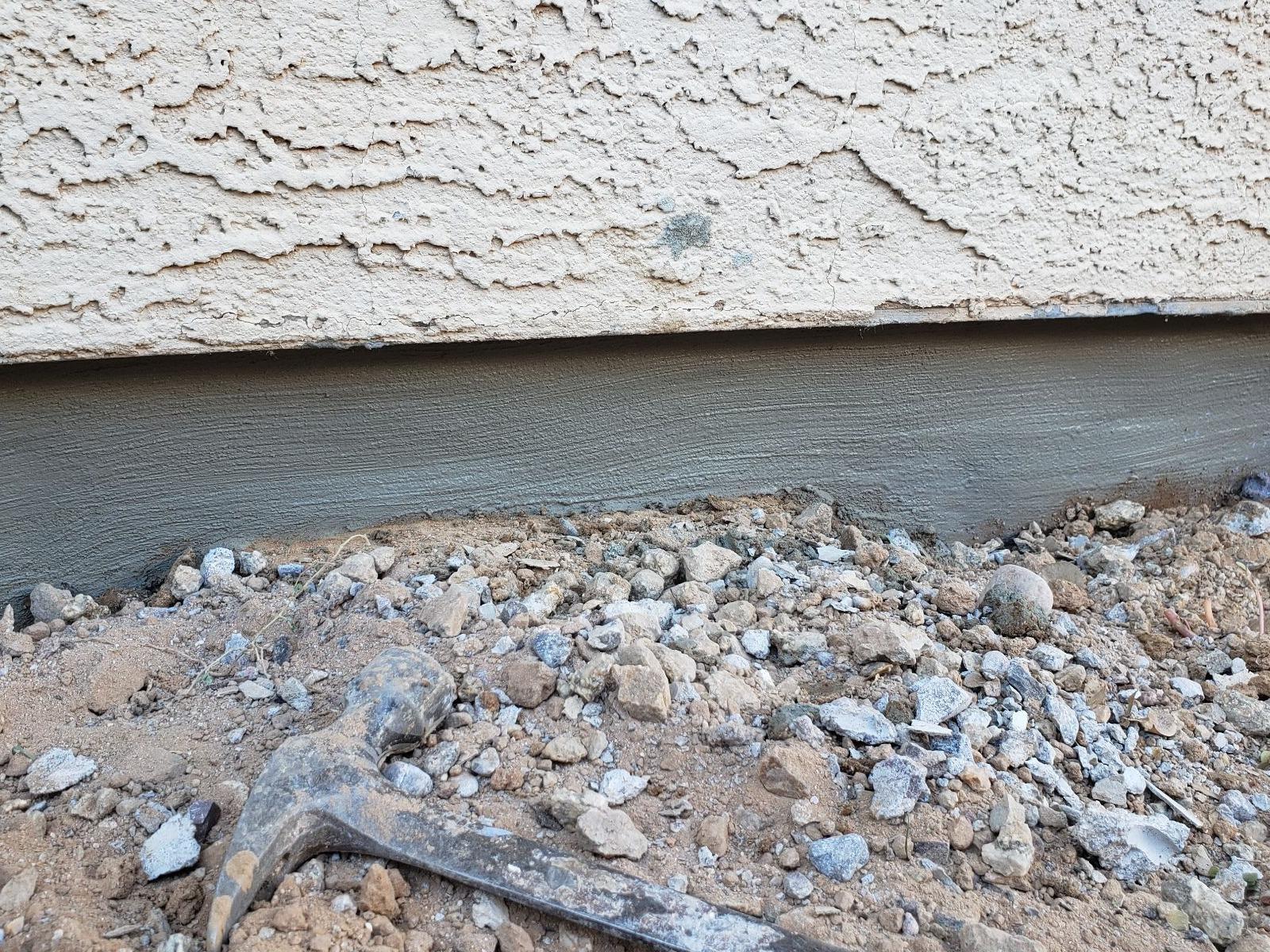 Chandler, AZ  Concrete Stem Wall Repair - After Photo