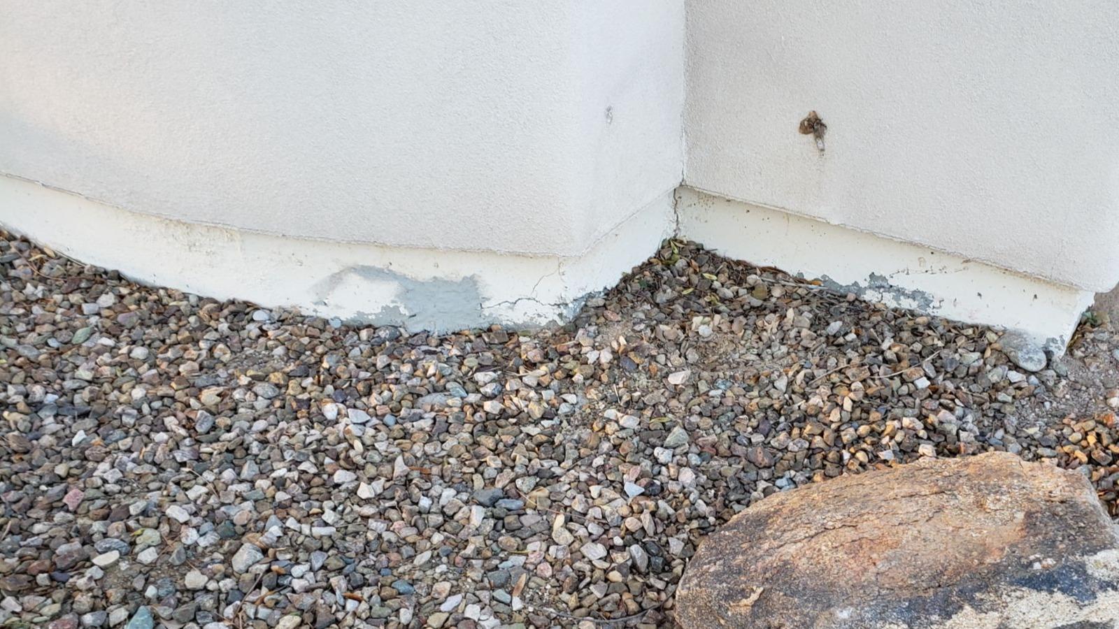 Concrete Stem Wall Repair - Glendale, AZ - Before Photo
