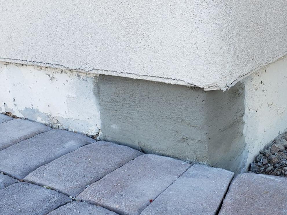 Concrete Stem Wall Repair - Glendale, AZ - After Photo