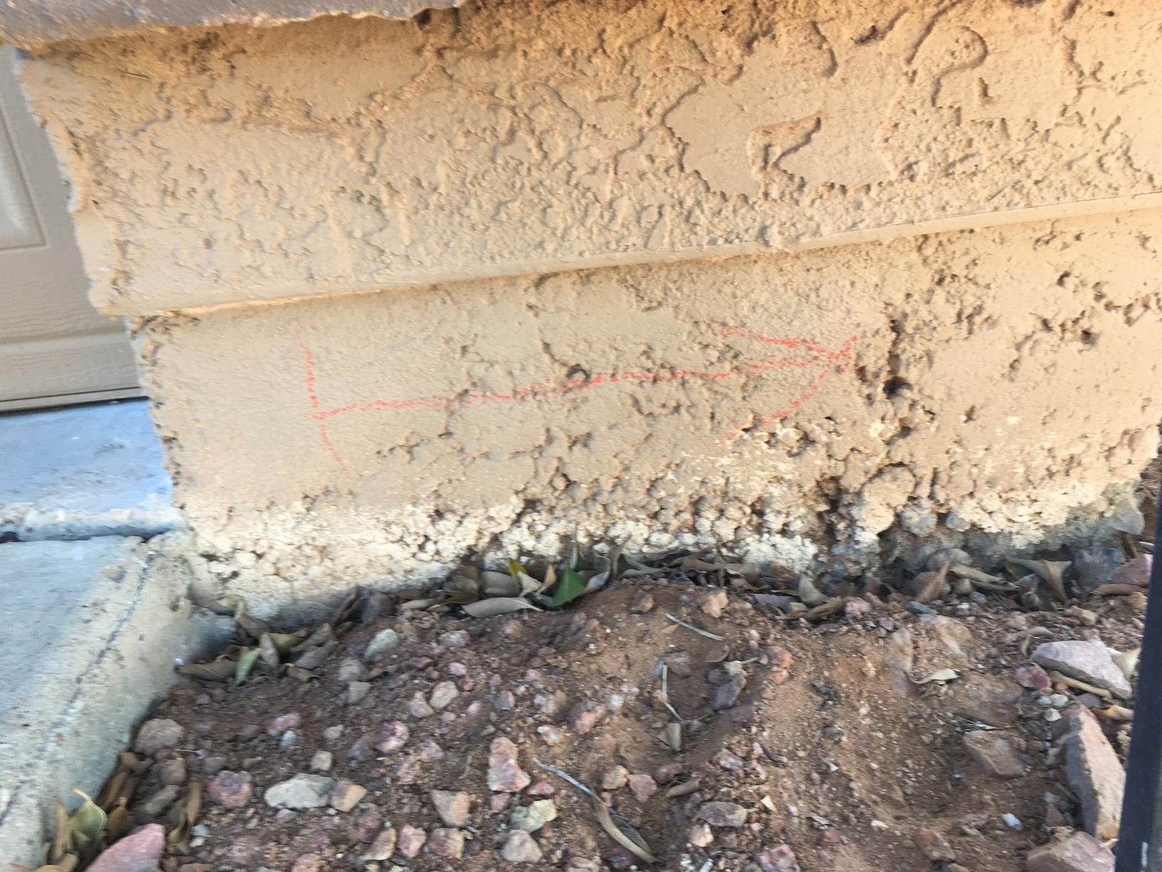 Concrete Stem Wall Repair - Gilbert, AZ 1.21.2021 - Before Photo