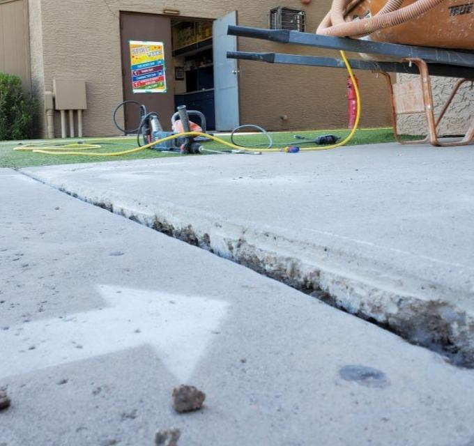 Chandler Concrete Repair: PolyLevel® Injection - Before Photo