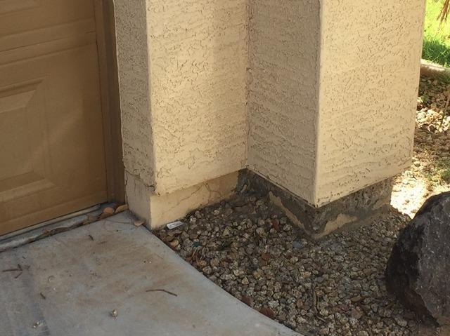 Concrete Stem Wall Repair - Chandler, AZ - Before Photo