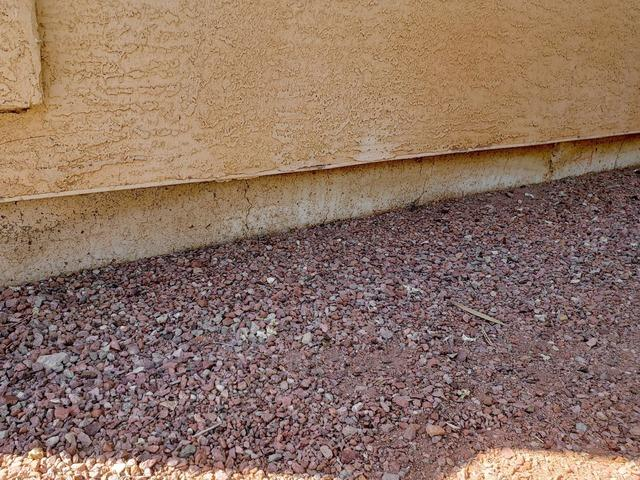 Concrete Stem Wall Repair - Glendale, AZ - Before Photo