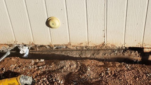 Concrete Stem Wall Repair - Chandler, AZ - Before Photo