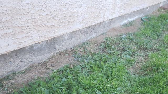 Concrete Stem Wall Repair - Buckeye, AZ - Before Photo