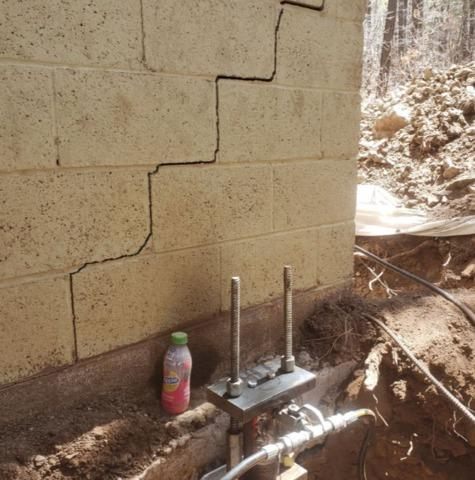 Foundation Leveling in Pinetop, AZ - Before Photo