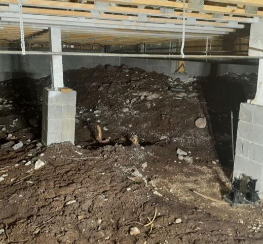 Crawl Space Support in Flagstaff, AZ - Before Photo