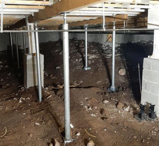 Crawl Space Support in Flagstaff, AZ - After Photo