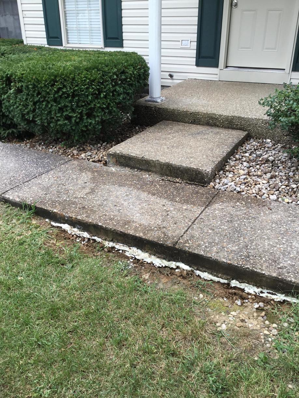 Polylevel Injection Solves Sunken Concrete Problem in Shelbyville, KY - After Photo