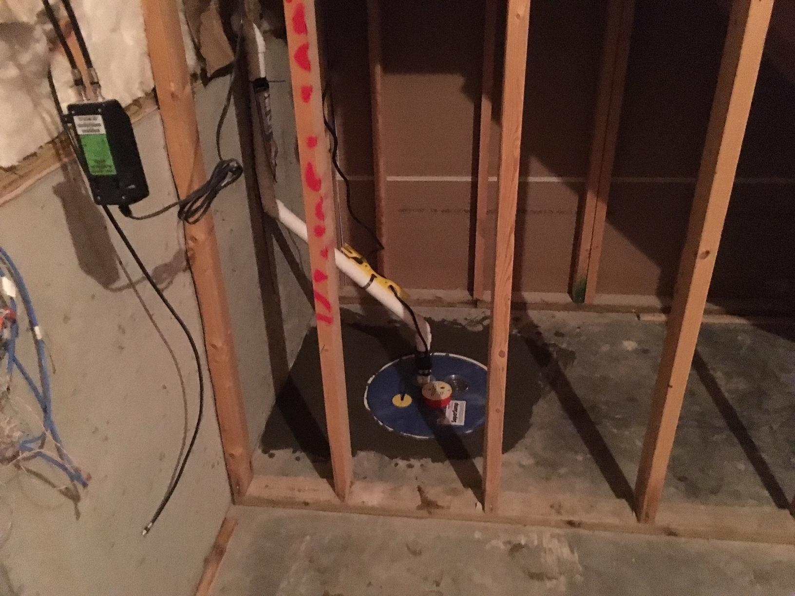 SuperSump Pump System installed in Taylorsville, Ky - After Photo