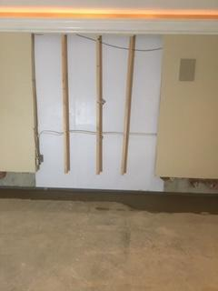 BrightWall used to drain wall leaks into WaterGuard Basement Waterproofing System in Fort Thomas, KY - After Photo