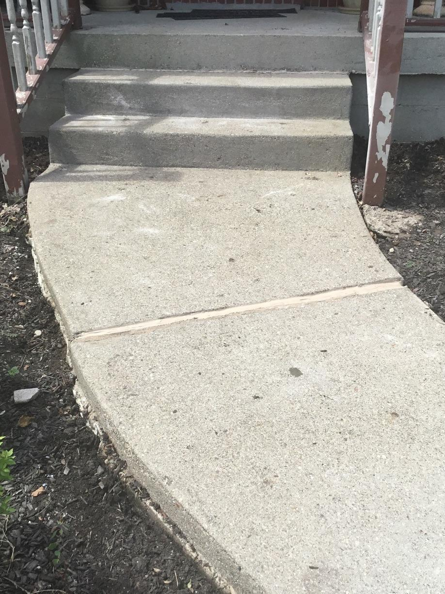 PolyLevel Injection System and NexusPro Joint Sealant is used to repair a sidewalk in Carrollton, Kentucky. - After Photo