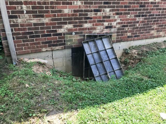 The Turtl crawlspace door installed in Lawrenceburg, KY - Before Photo