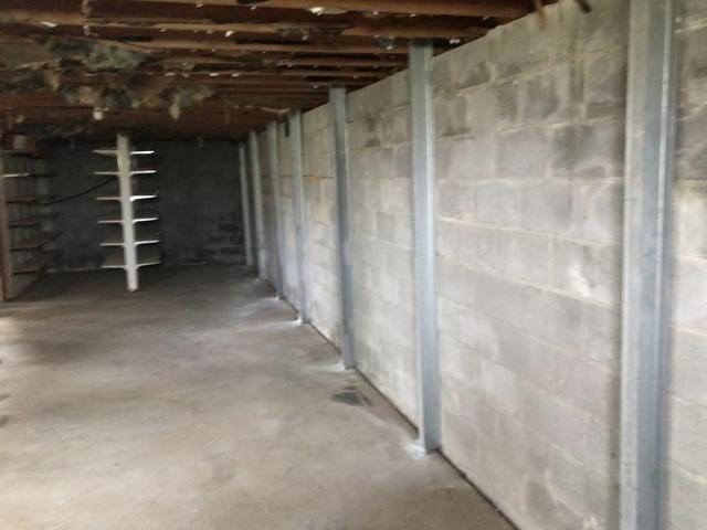 PowerBrace System to stop bowing wall in Pleasureville, KY