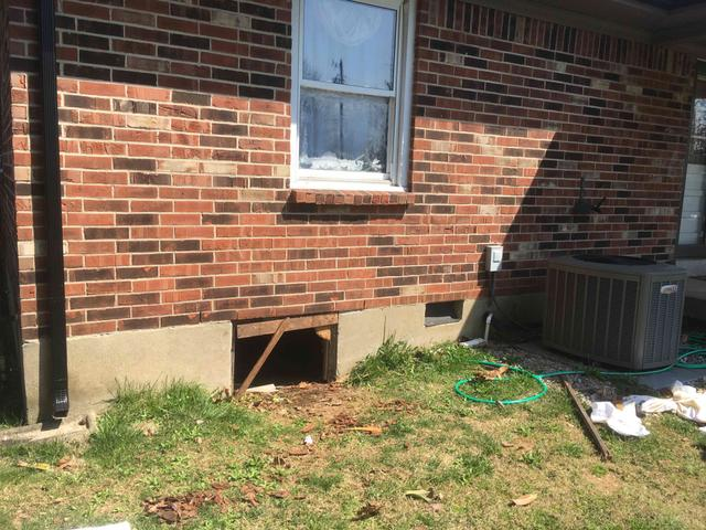 Turtl Crawl Space Access System installed in Mt. Washington, KY - Before Photo