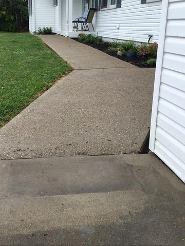 Polylevel Injection used to raise sidewalk in Pine Knot, KY