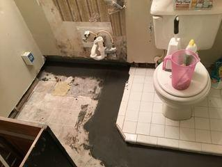 WaterGuard Prevents Water Overflow in Basement Bathroom - After Photo