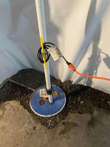 Paris, KY Sump Pump Replacement Before and After