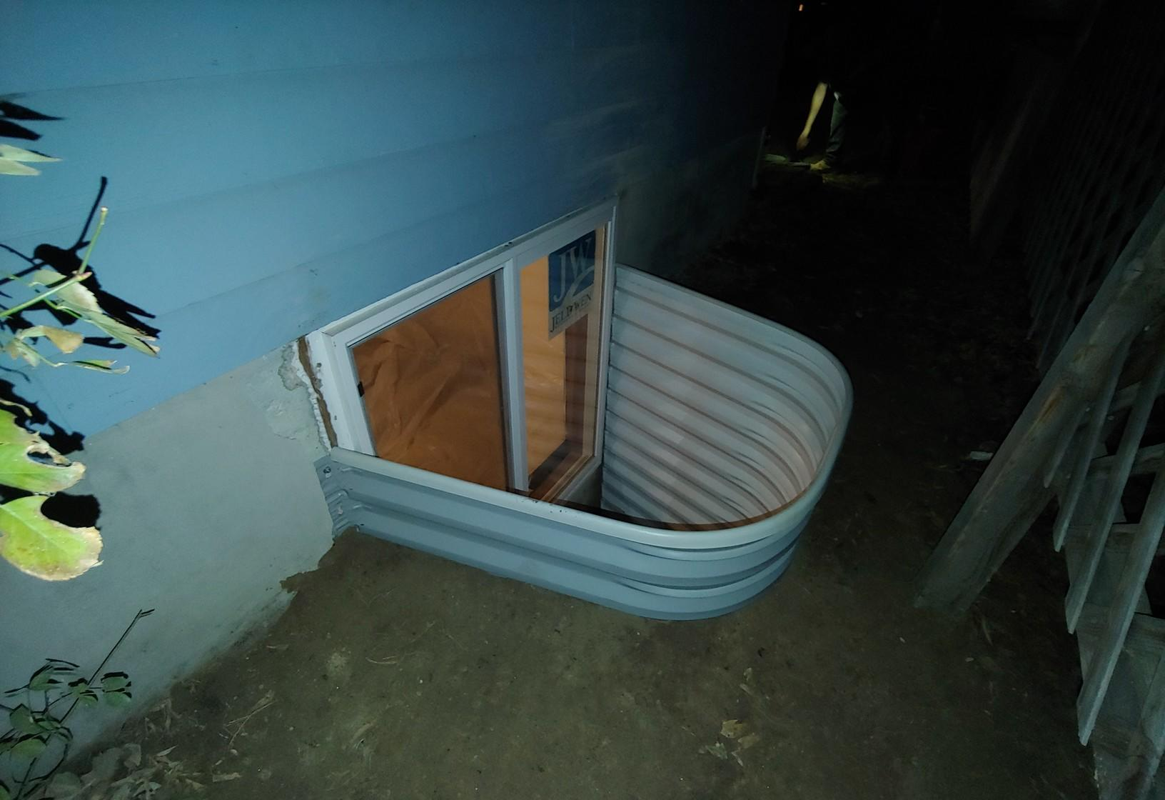 Small basement window converted to an egress window in Pocatello, ID. - After Photo