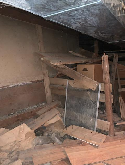 CrawlSpace Support in Moore, ID - Before Photo