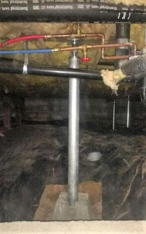 Crawl Space Supported with SmartJacks™ in Oldtown, Idaho