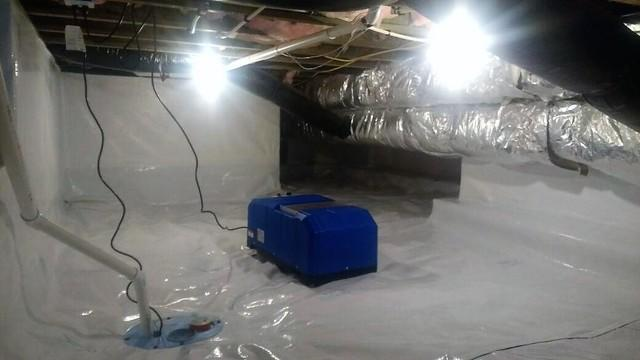Crawl Space Air and Encapsulation System in Murtaugh, Idaho