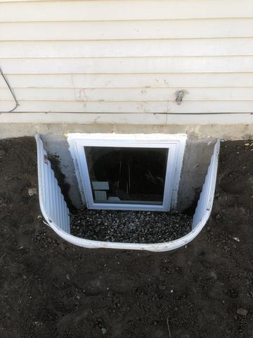 Egress window and well installation in Weiser, ID