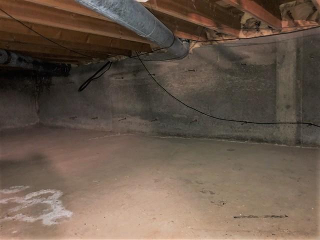 Drytrak and Sump Pump installation in Melba Crawlspace