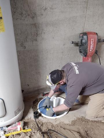 SuperSump Before and During in Heyburn, ID