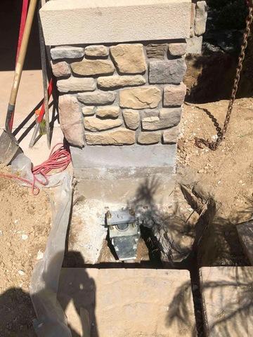 Cracks in a garage Foundation in Eagle, ID