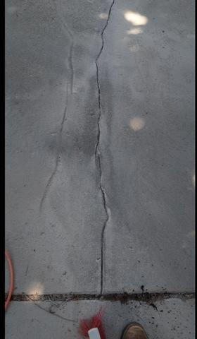 Cracks along the driveway? - Before Photo