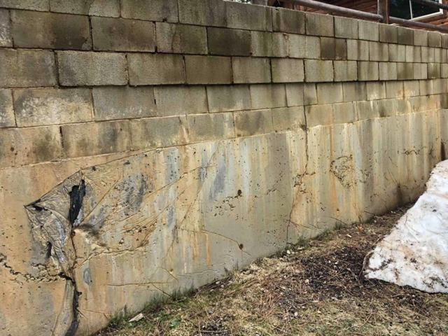 Leaning Retaining Wall Repaired