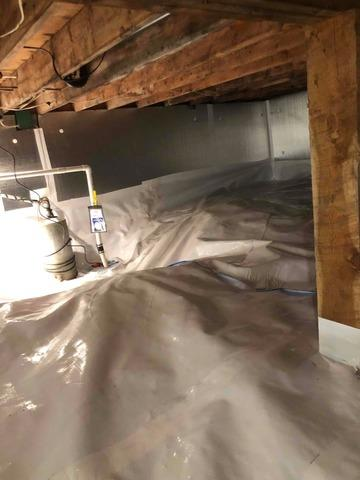 Crawlspace waterproofing and clean out in Island Park, Idaho!