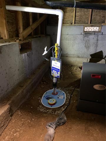 Sump pump installed in Meridian!