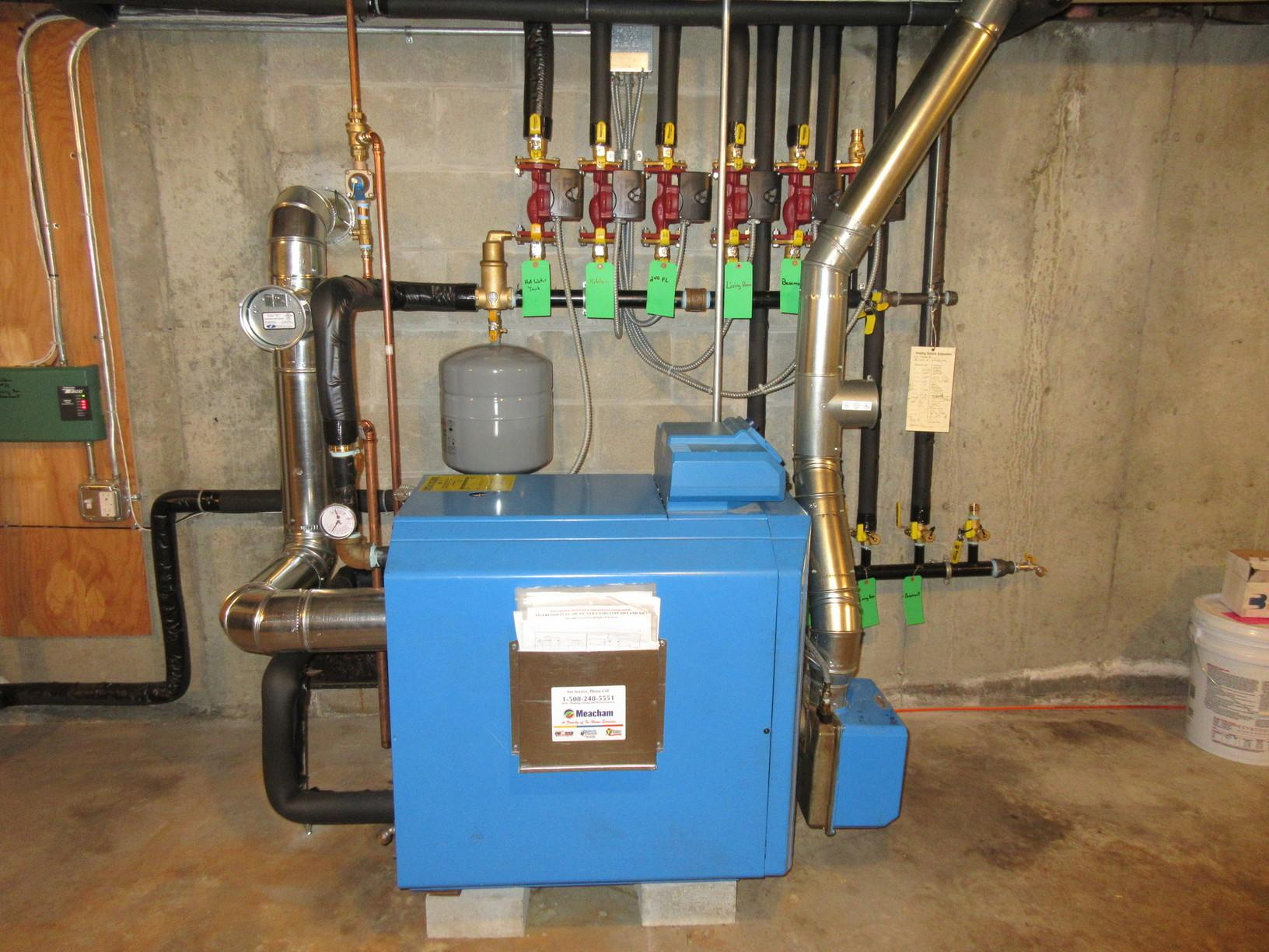Buderus Oil Boiler w/Logimatic Controls , Leicester Ma - After Photo