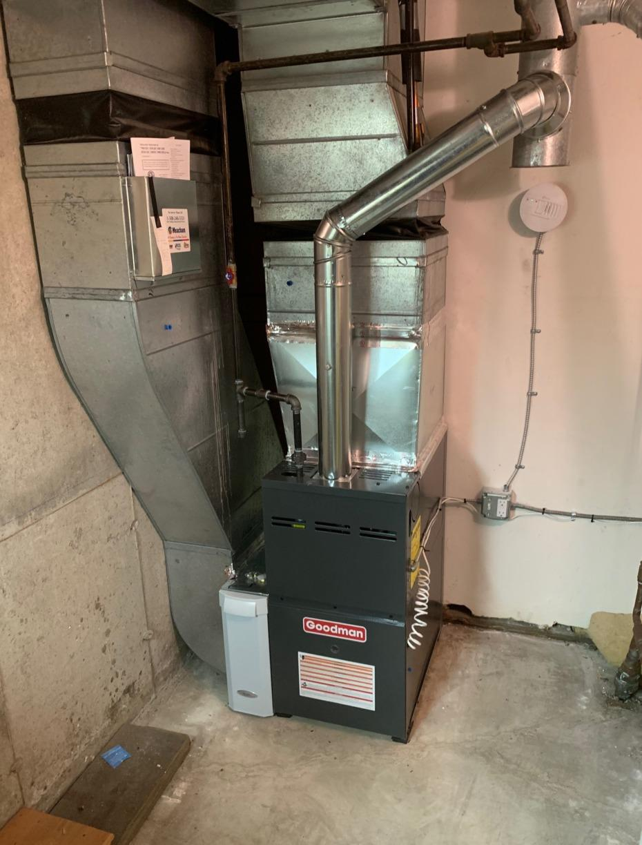 N.  Oxford - Propane Furnace Installation - After Photo